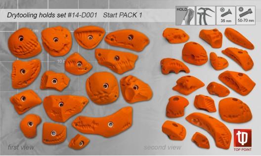 Набор зацепов для ледолазания D001 START PACK 1