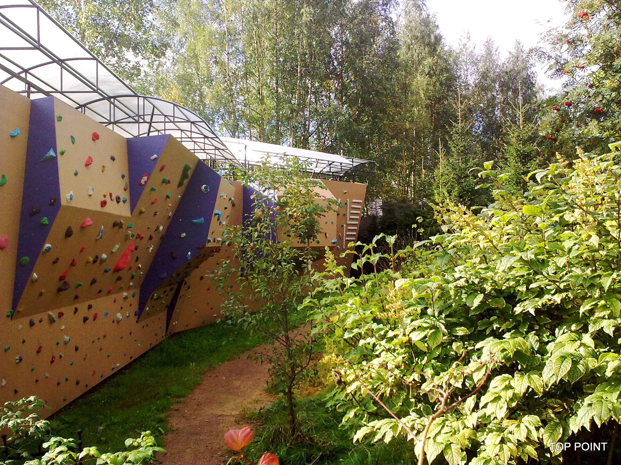 Скалодром на участке загородного дома