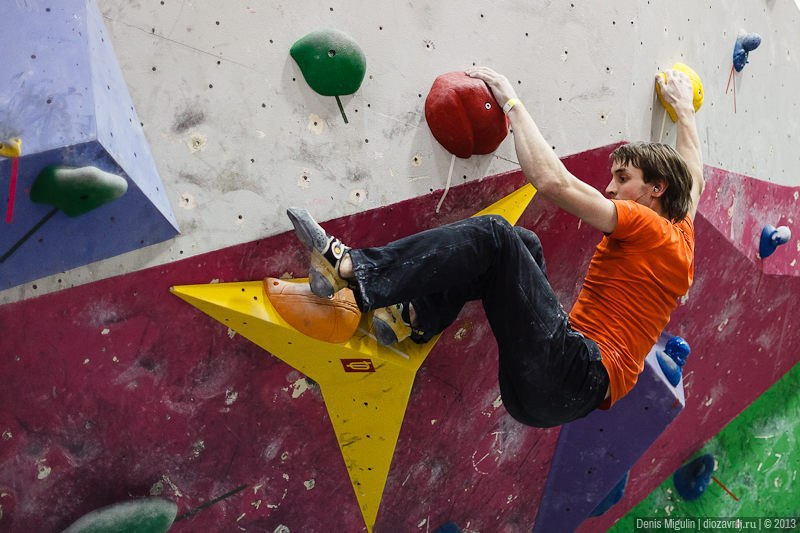 Рельефы ТОП ПОИНТ на скалодроме Big Wall. Автор фото: Денис Мигулин - http://diozavr.livejournal.com/