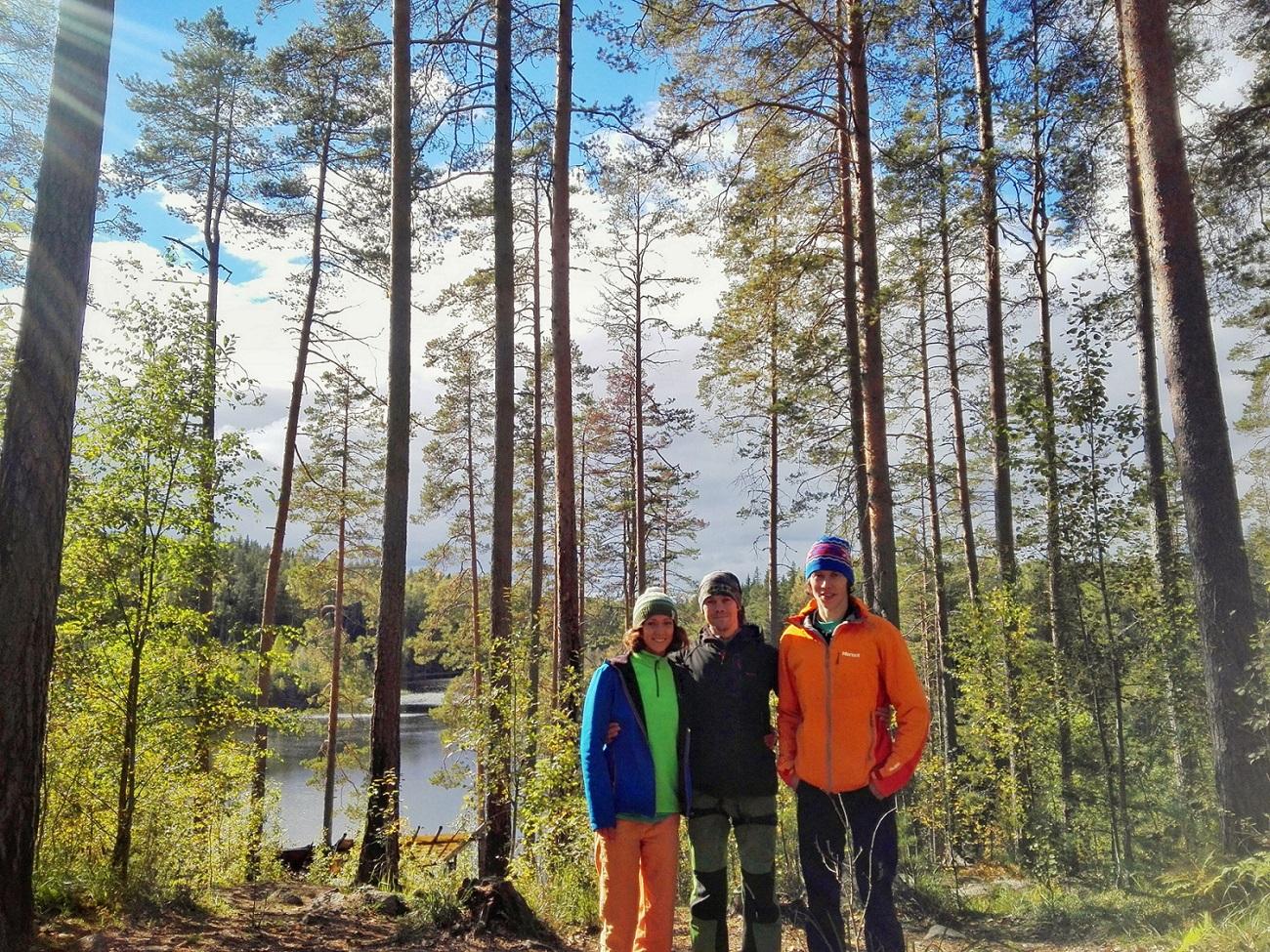 С Димой Пановым на Треугольном озере